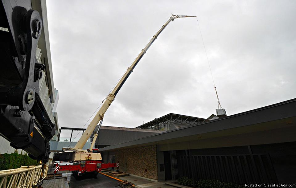 Boom Crane Rental Services from TNT Crane & Rigging in BC