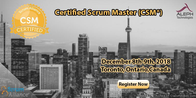 Certified Scrum Master | CSM | Toronto, Ontario,Canada