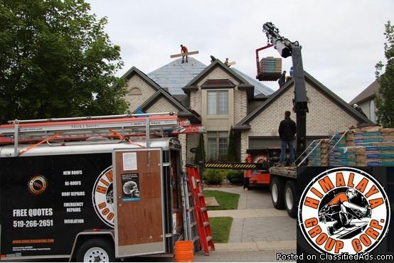 Re-roofing London Ontario- Himalaya Group Inc