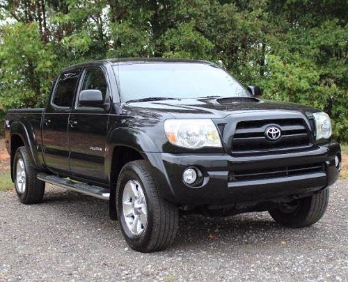 Toyota Tacoma Black Pickup Truck  Miles