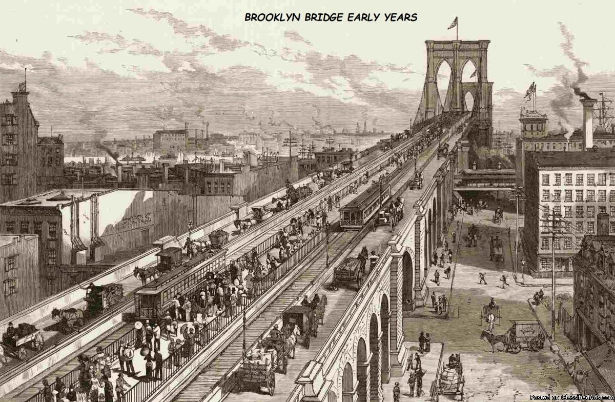 BROOKLYN BRIDGE EARLY YEARS. AA