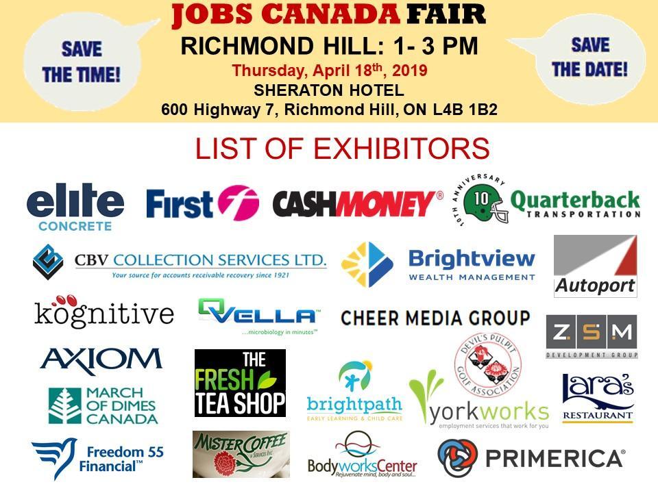 Richmond Hill Job Fair, April 18th