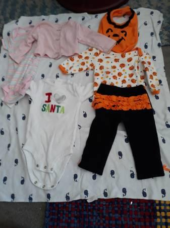 3-6mos. six items little baby girls