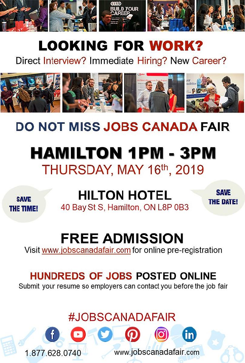 Hamilton Job Fair – May 16th,