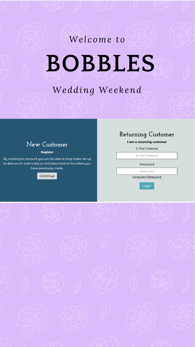 """Wedding Weekend @ """"Bobbles"""" find items starting at $"""