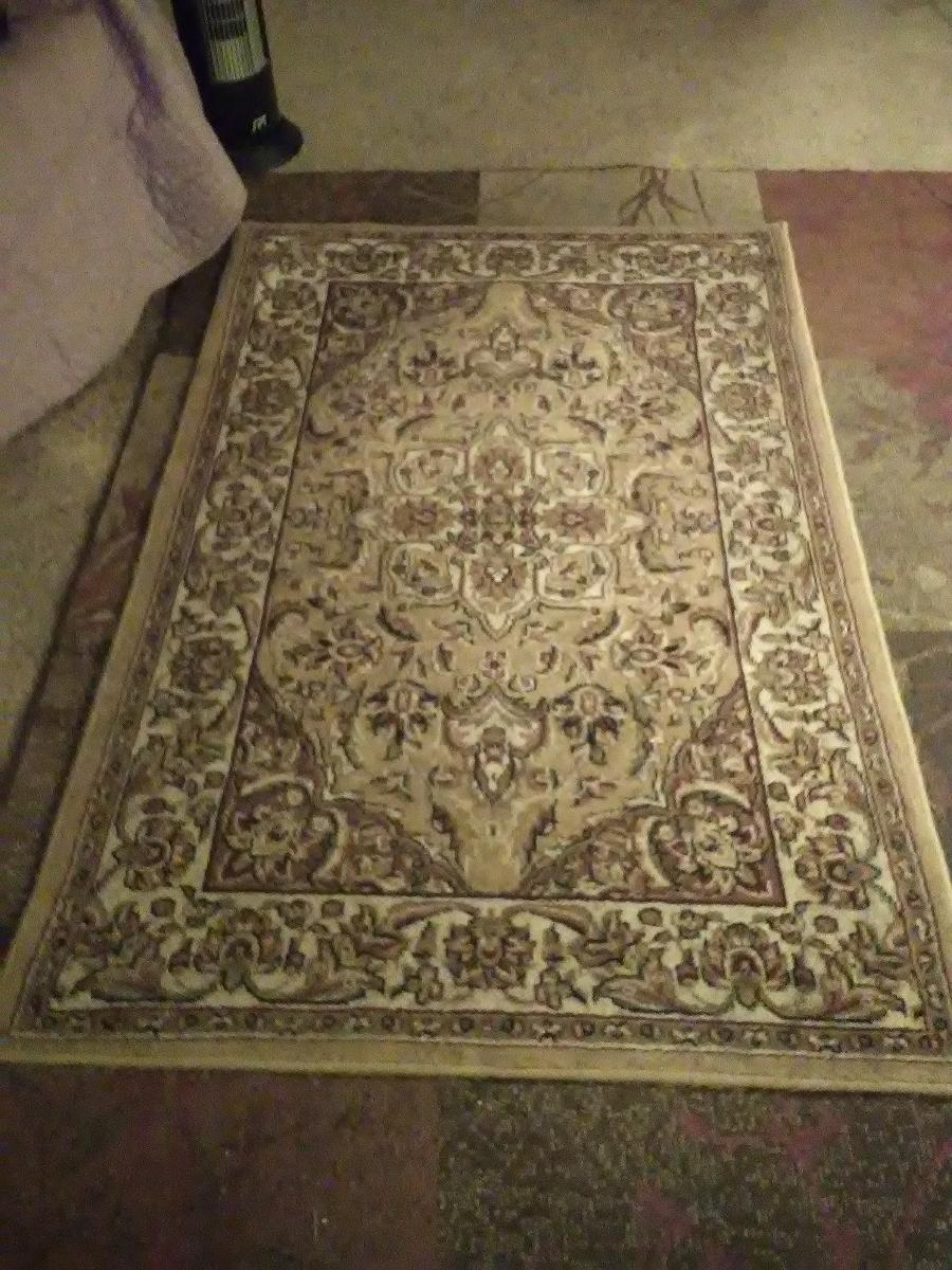 Mediterranean area rug, estate sale