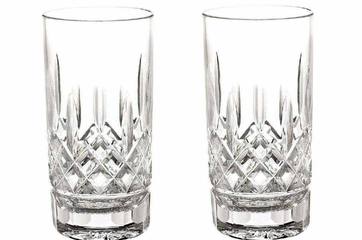 Waterford Lismore Tall 12 OZ Highball Tumblers, Brand New in