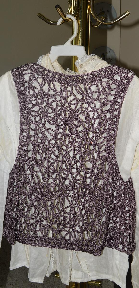 Ladies' Open Knit Vest, Lilac Hue, Excellent Condition