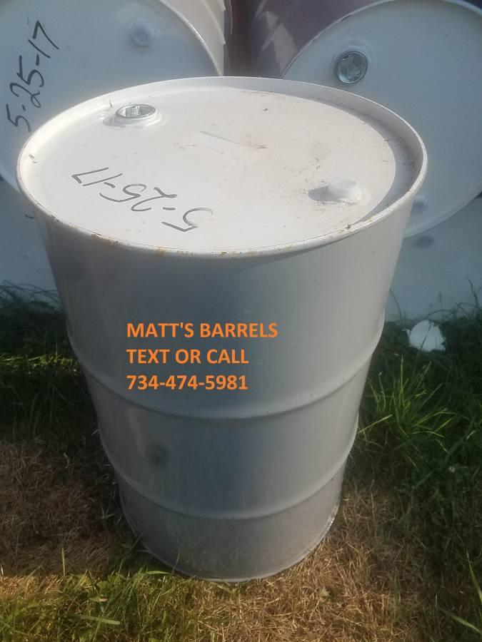 55 GALLON METAL STEEL BURN BARRELS