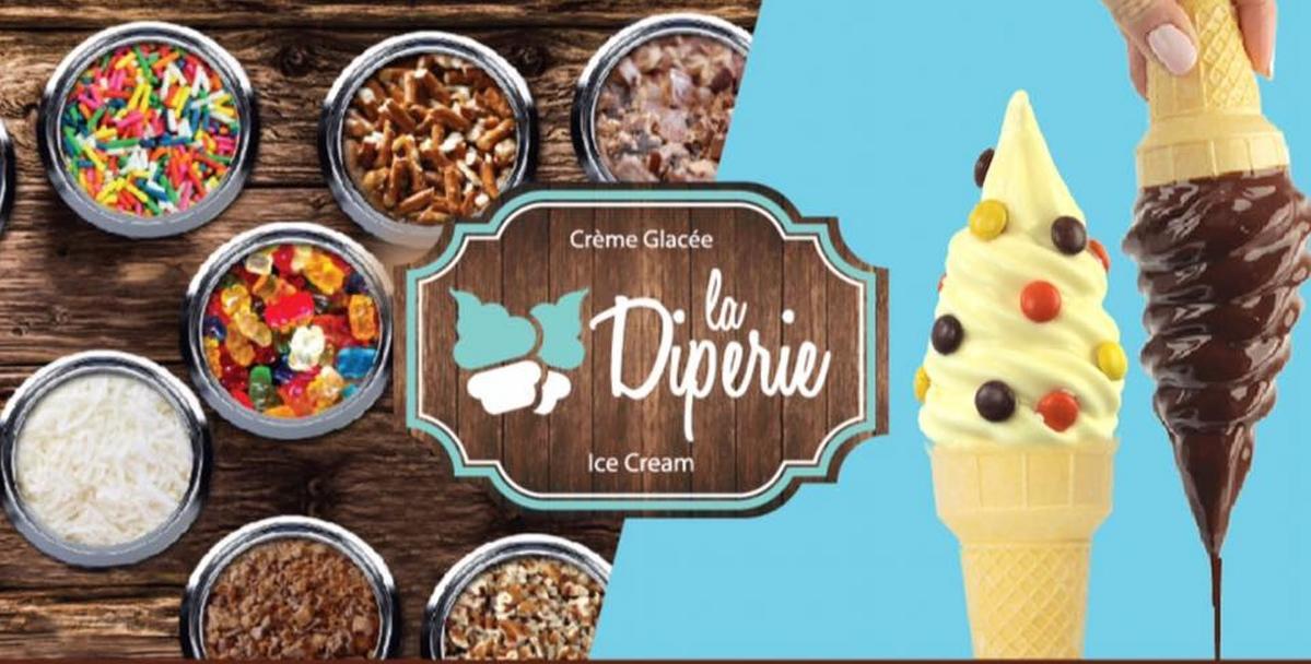 Franchise La Diperie ice cream shop for sale Montreal