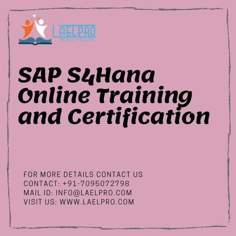 SAP S4Hana online training AND CERTIFICATION