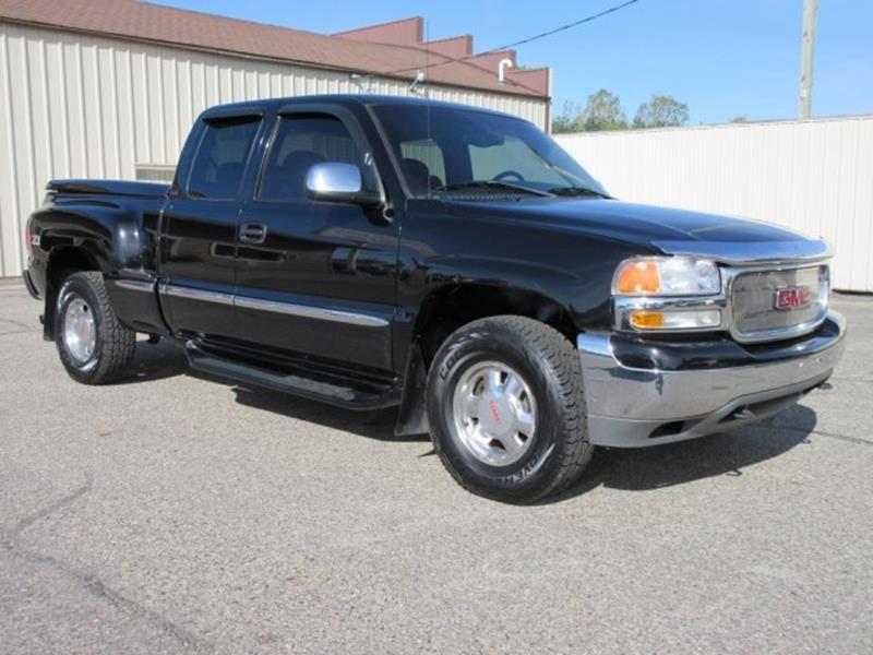 GMC Sierra  Black Pickup Truck  Miles