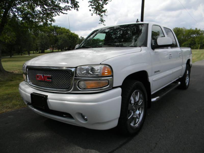 GMC Sierra  Denali White Truck Pickup  miles
