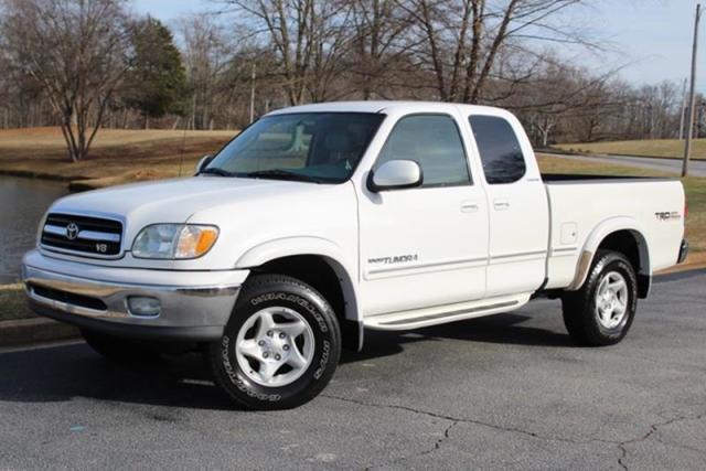 Toyota Tundra White Pickup Truck  Miles