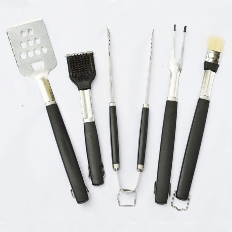 5-Piece Stainless Steel BBQ Tool Set