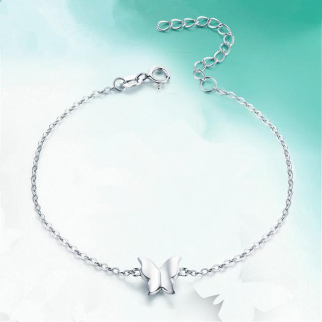 Sterling Silver Butterfly Bracelet