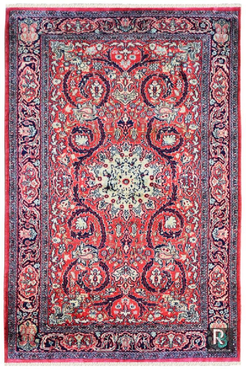 Floral Chandelier Silk Carpet