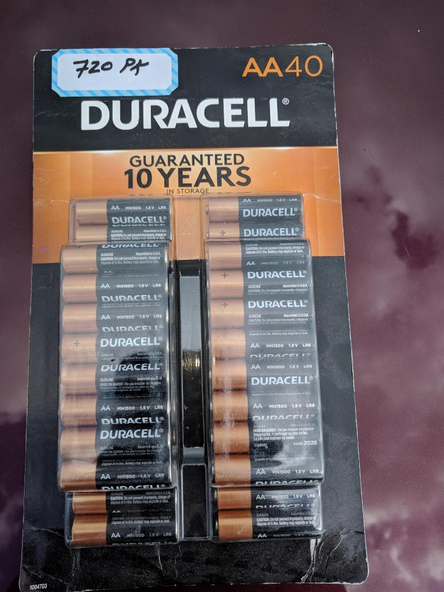 Duracell Bulk Pack Batteries, AA/AAA/C/D/ 9 Volts Batteries