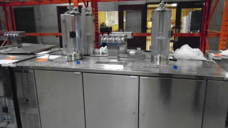 Lot of (3) Perlick Double Dispenser Growler Stations