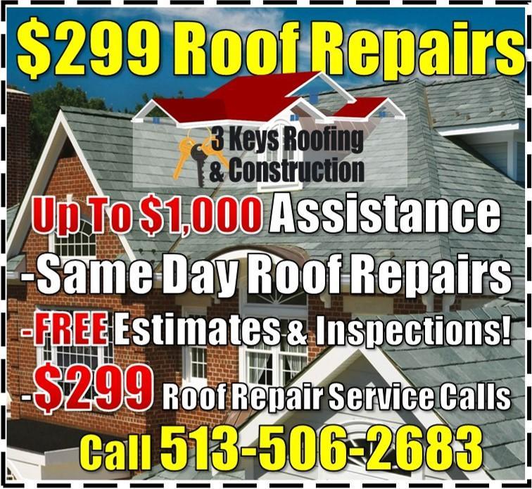 $299 Roof Repair | Roofing Company | Roofer in Cincinnati
