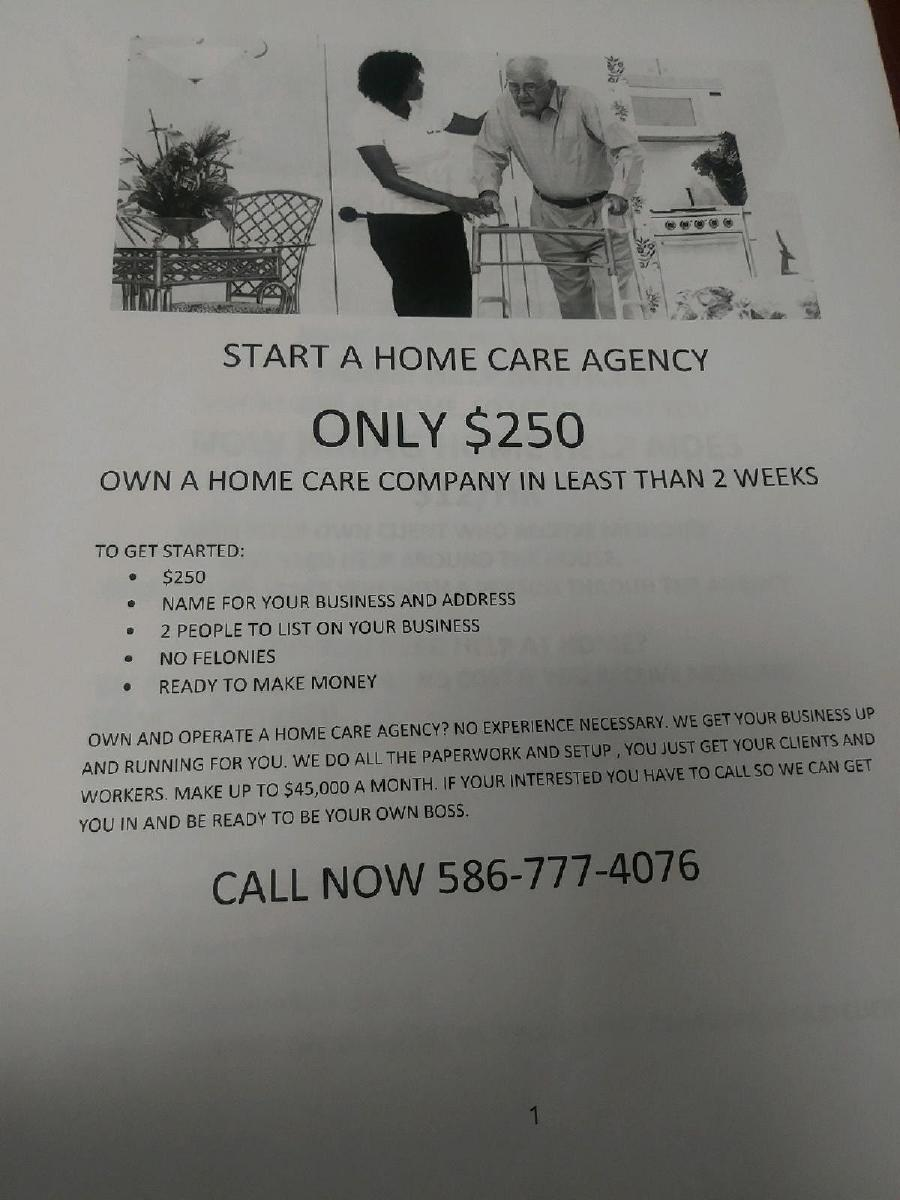 OPEN YOUR OWN HOME CARE AGENCY