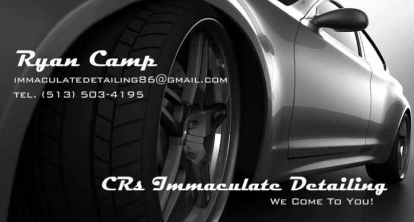 CRs Immaculate Detailing! We Come to you!