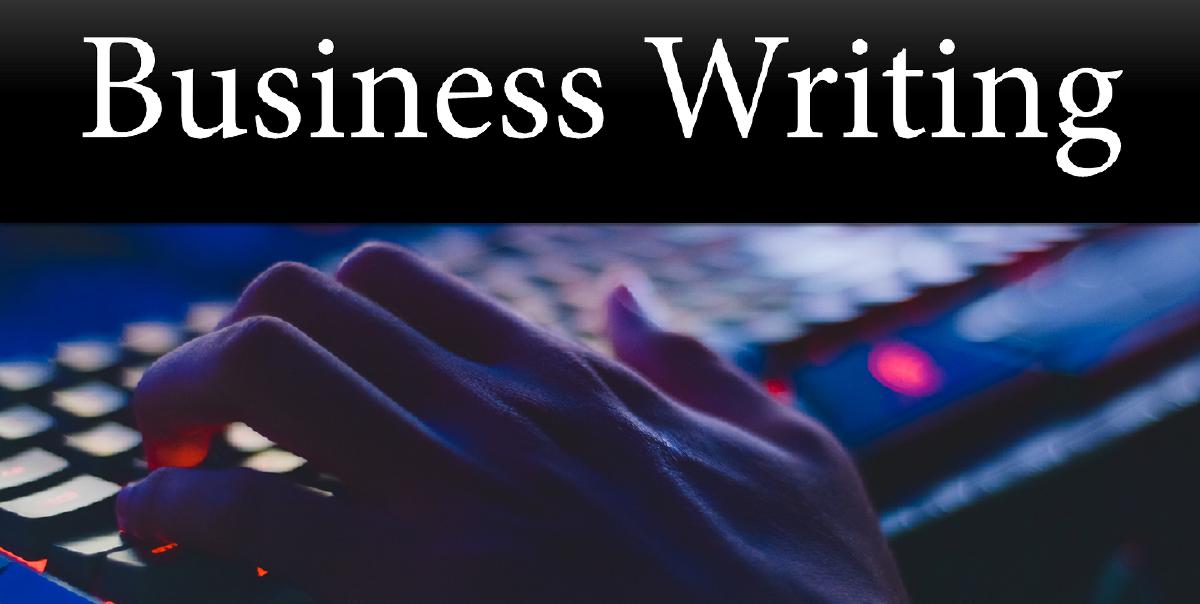 Business Writing Live Virtual Training Sat, Feb