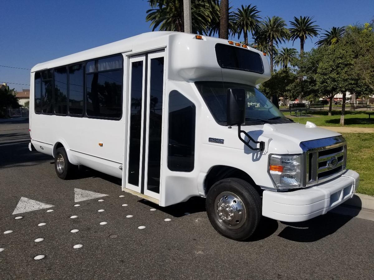 WHITE FORD E450 EL DORADO PARTY BUS # or