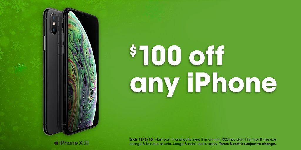 $100 OFF ANY IPHONE WHEN U SWITCH TO CRICKET WIRELESS TODAY