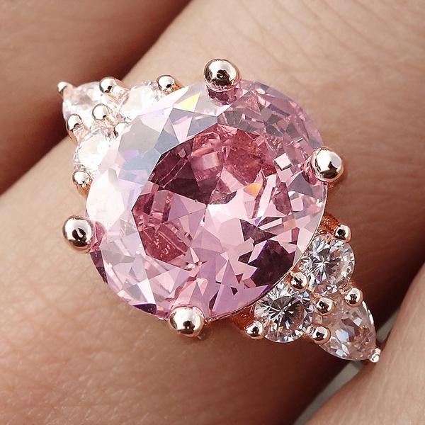 Exquisite 925 Sterling Silver Ring Princess Cut Gemstone