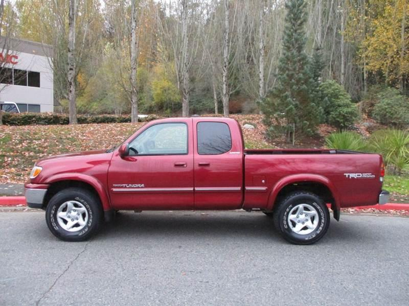 Toyota Tundra Red Pickup Truck  Miles
