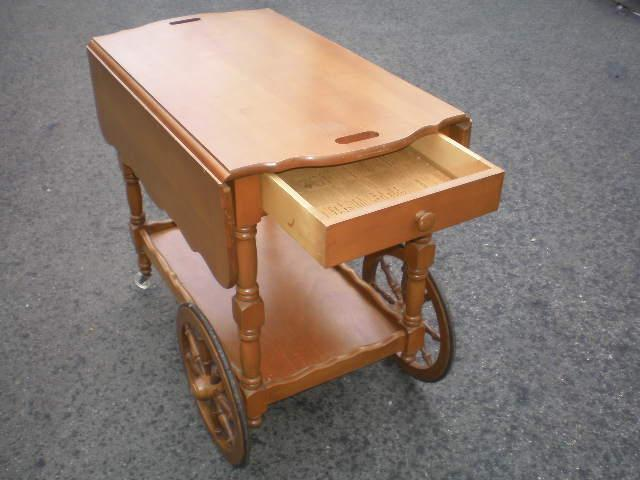 Cherry Drop Leaf Tea Cart