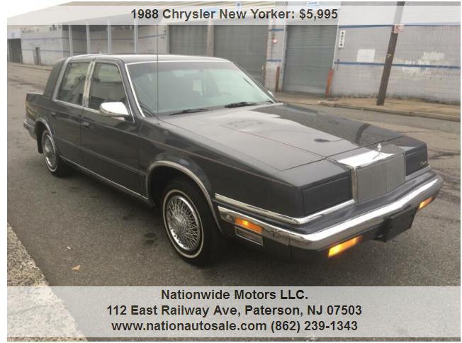 Chrysler New Yorker Landau 4dr Sedan $ Miles