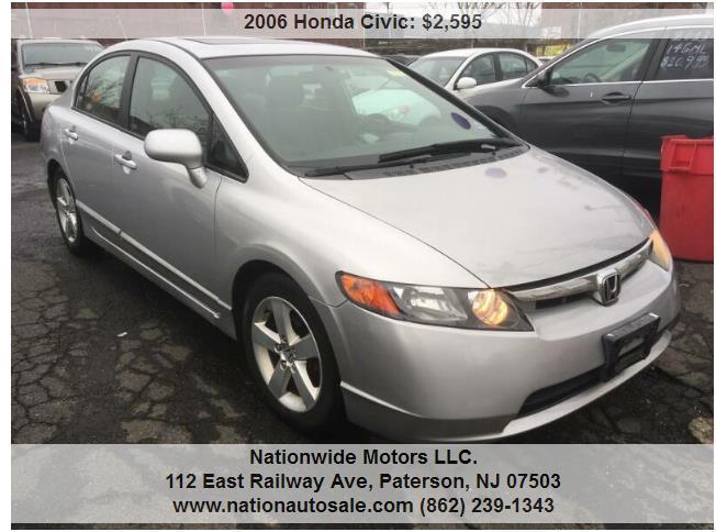 Honda Civic EX 4dr Sedan w/Automatic $ Miles