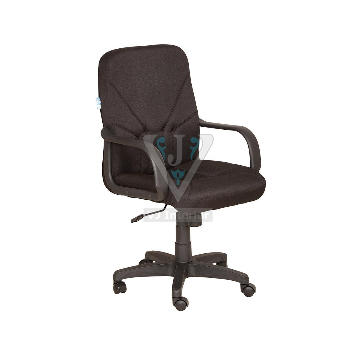 Brown Fabric Revolving Office Chair