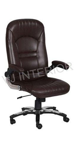 Senior Officer Chair In Leather High Back