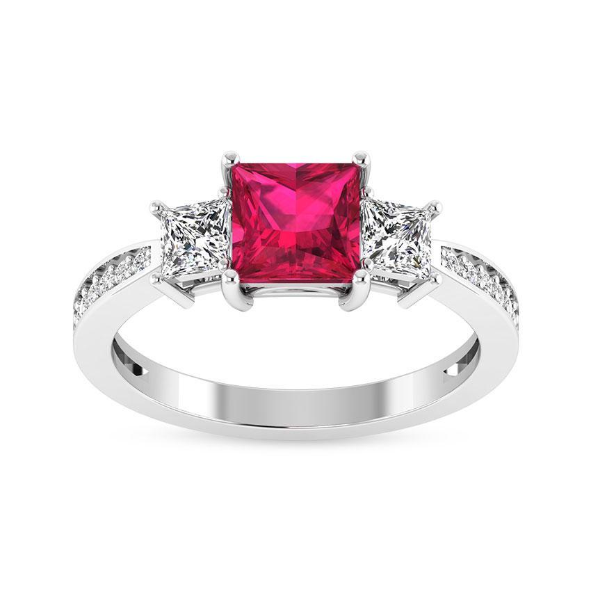 Pink Gemstone Engagement Ring & Three Stone Ruby Rings