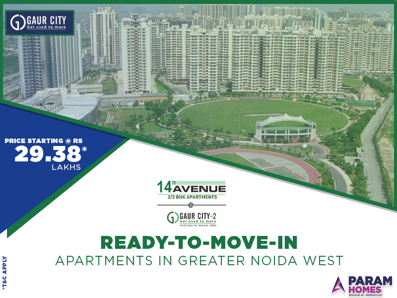 Gaur City Flats in Noida Extension Ready to Move