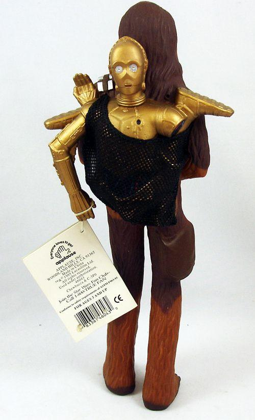 """12"""" in. Darth Vader, 11"""" Chewbacca with C3PO Figures"""