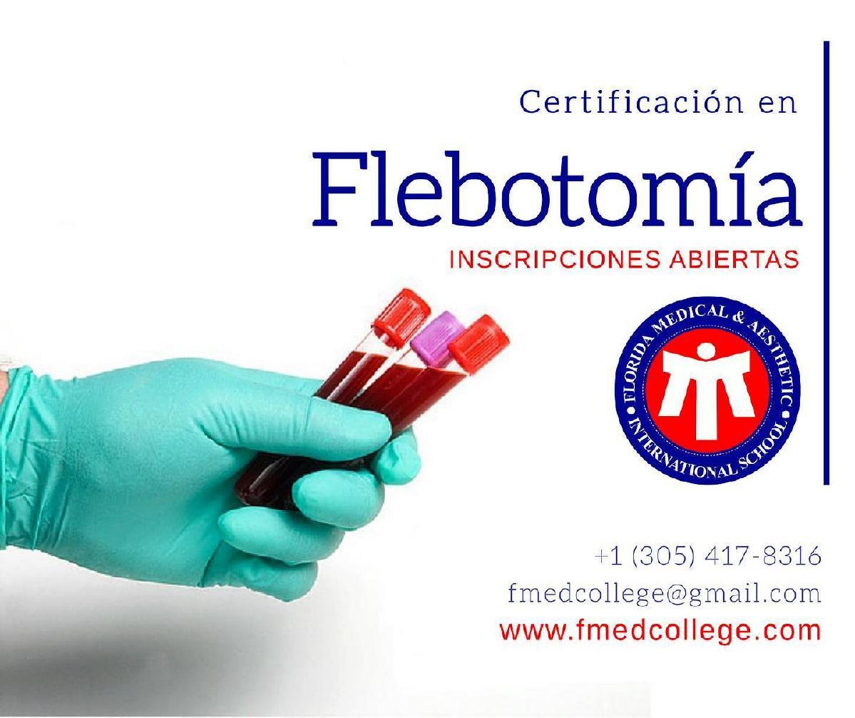 Curso de Flebotomía Certificación Nacional
