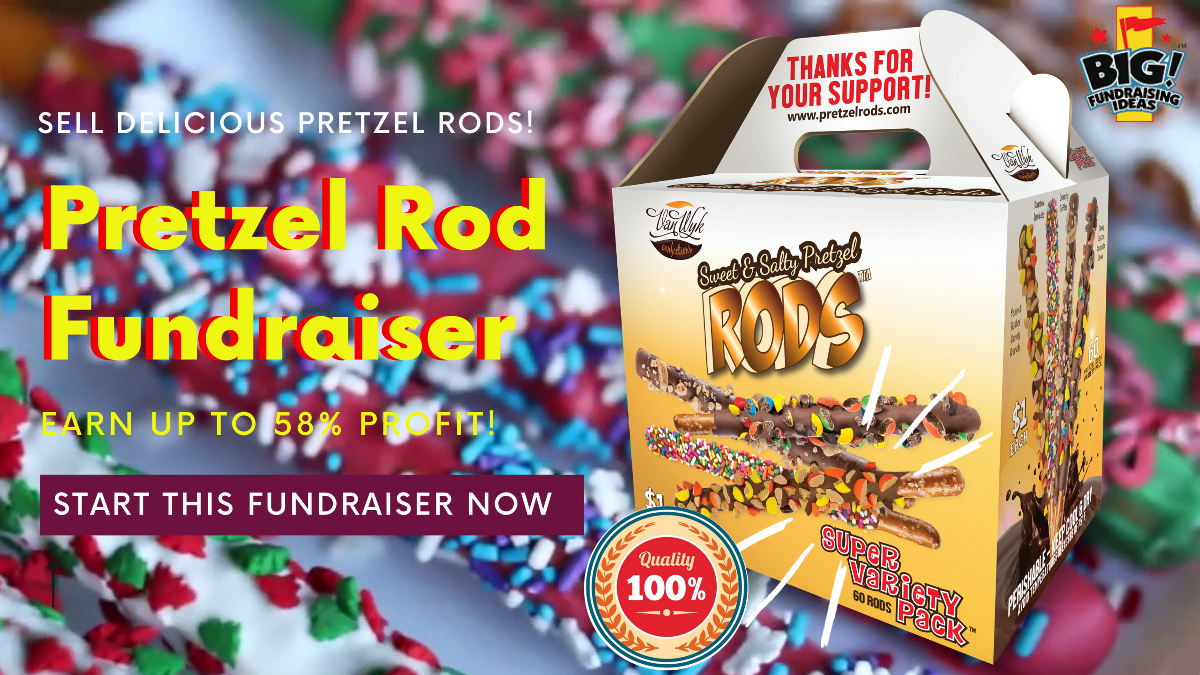 Pretzel Rods fundraiser   Up to 58% Profit   Free Shipping