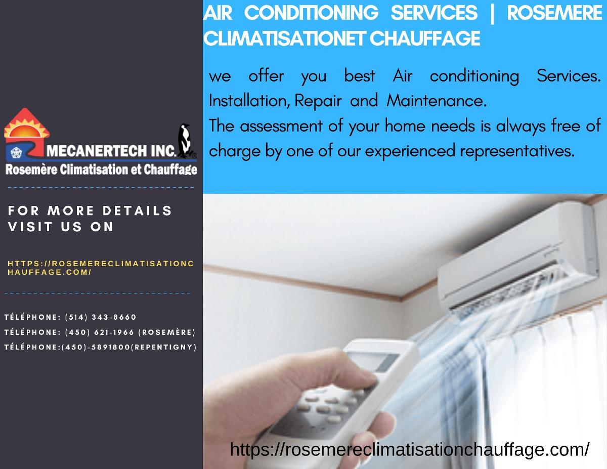 Air Conditioning Services |Rosemere Climatisation et