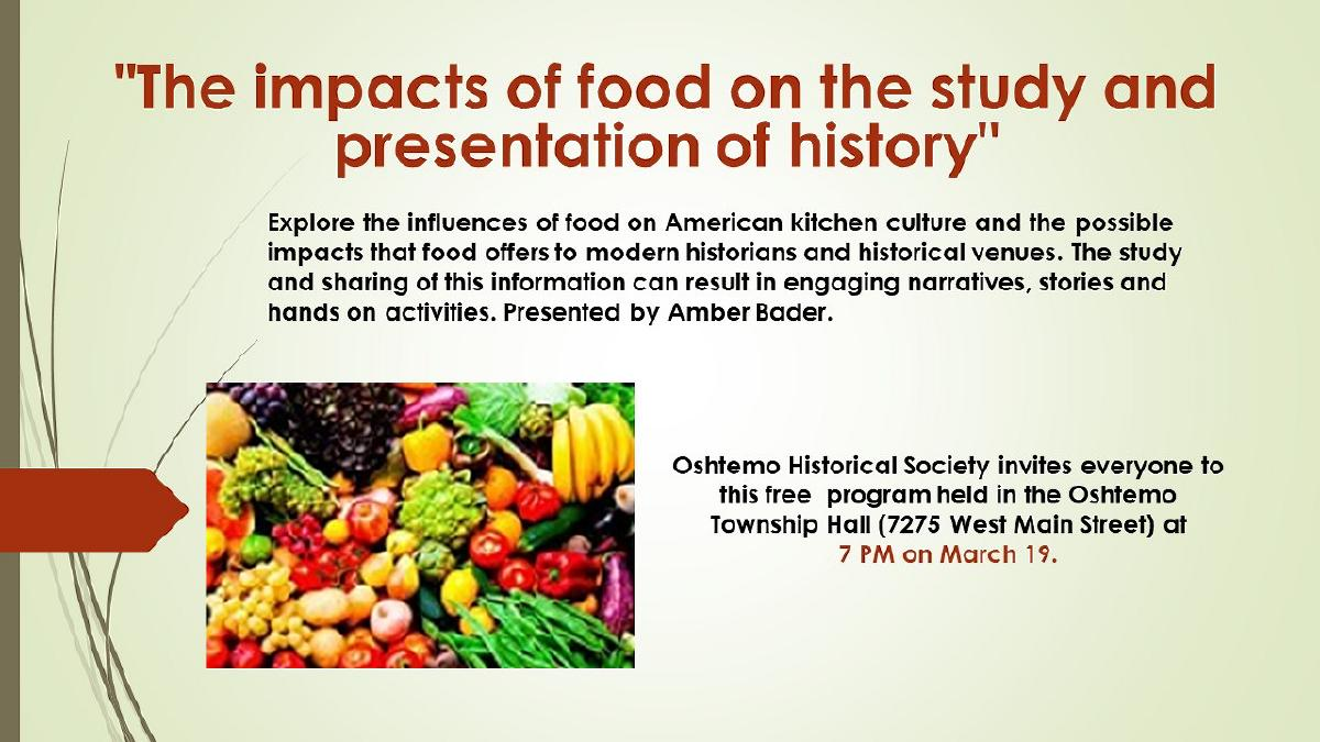 Impact of Food on the Study and Presentation of History