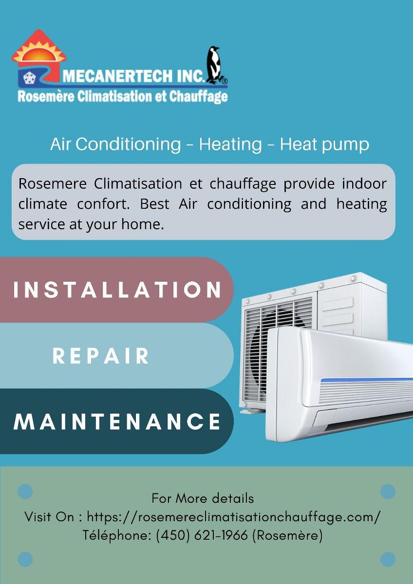 Air Conditioning – Heating – Heat pump | Rosemere