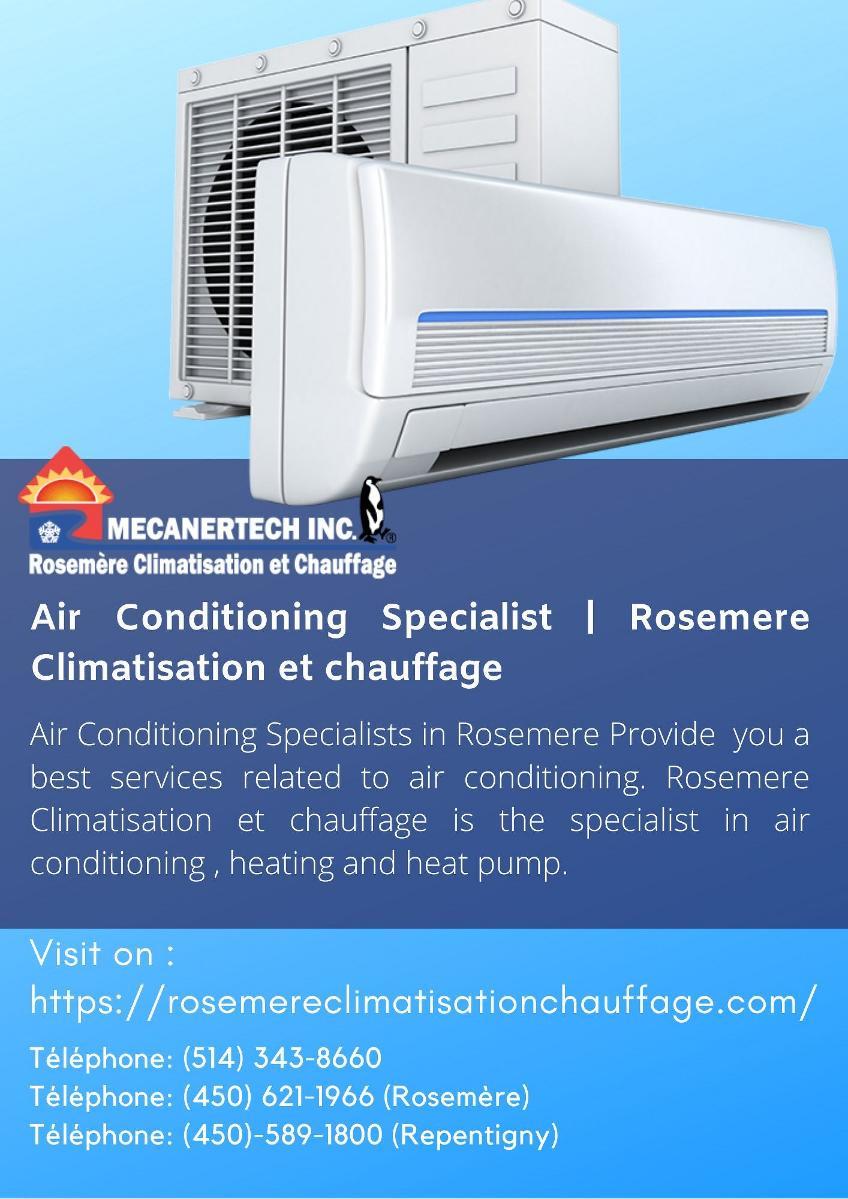 Air Conditioning Specialist | Rosemere Climatisation et
