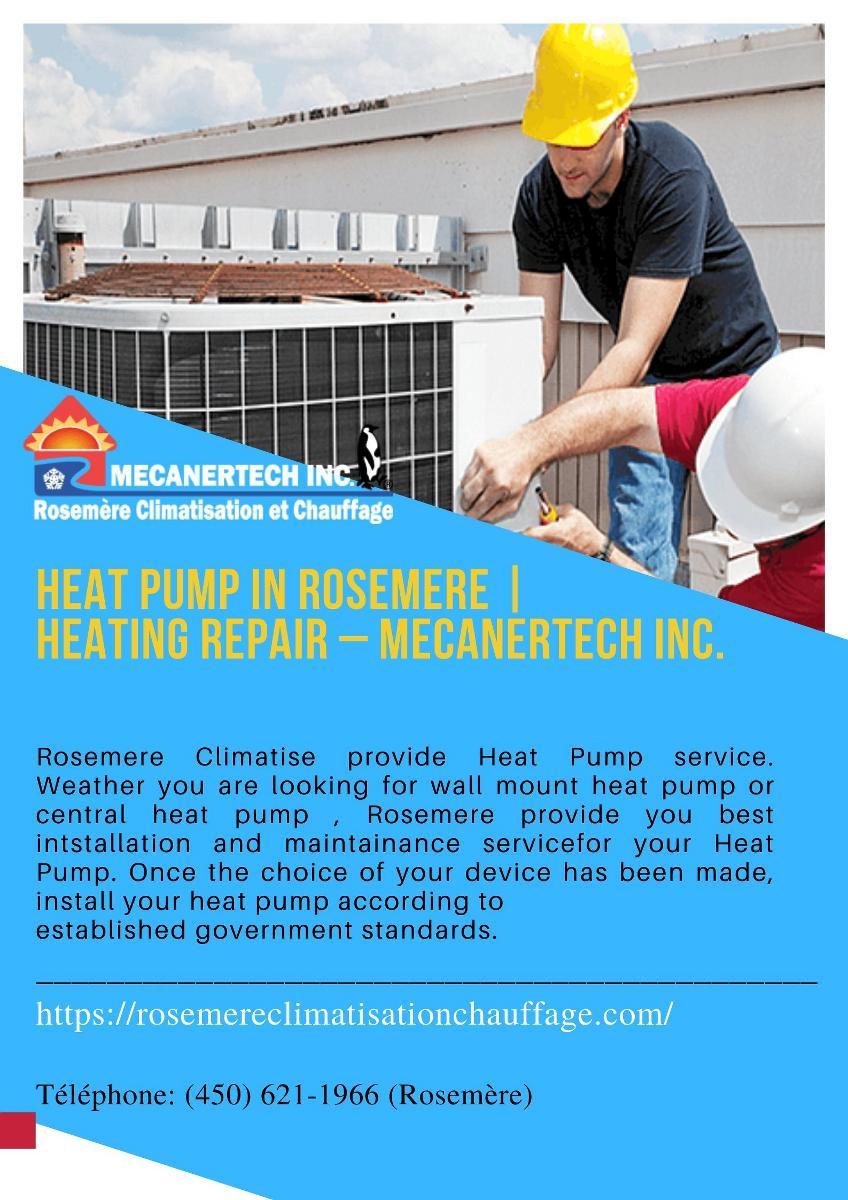 Heat Pump in Rosemere   Heating Repair – Mecanertech Inc.