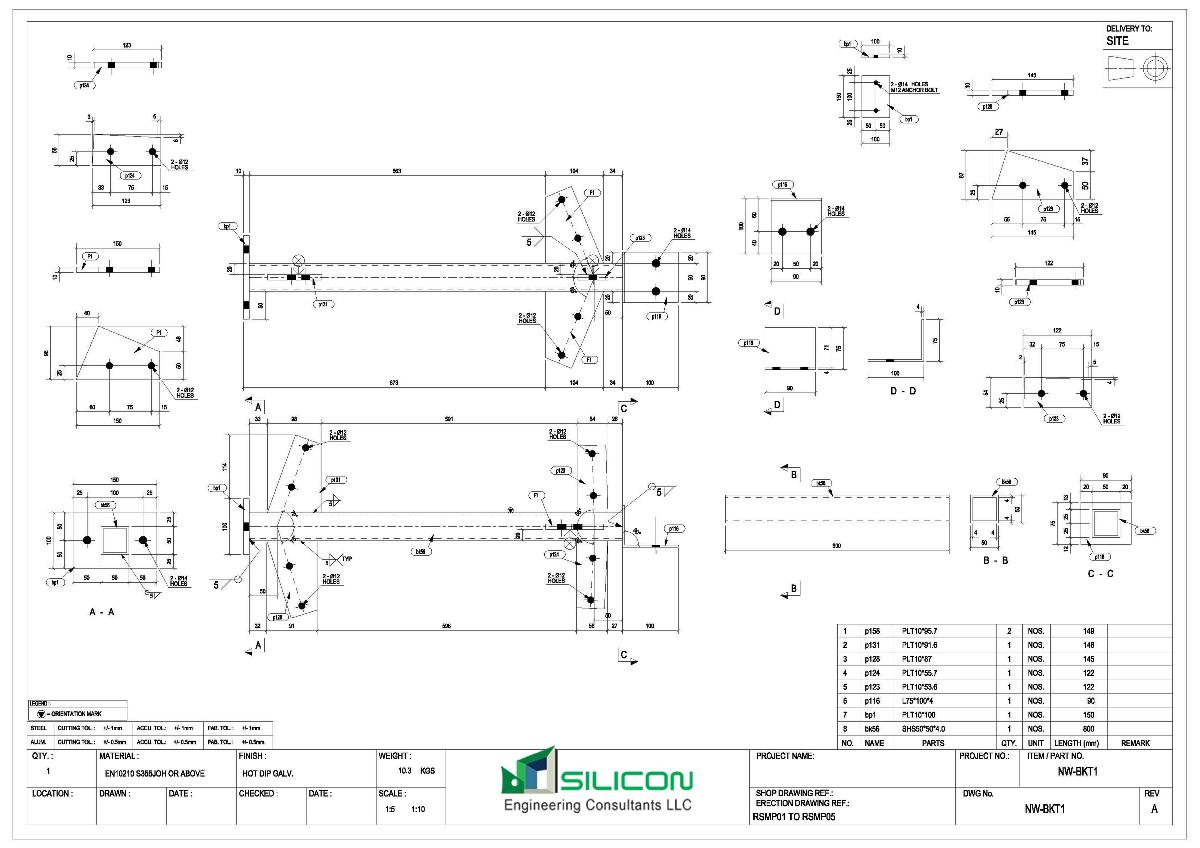 Fabrication Shop Drawing and Drafting Services New Jersey