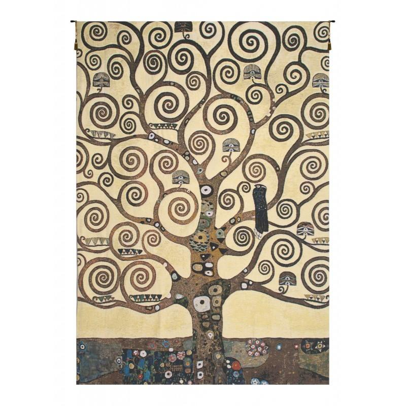 LEBENSBAUM KLIMT TREE OF LIFE BELGIAN TAPESTRY WALL HANGING