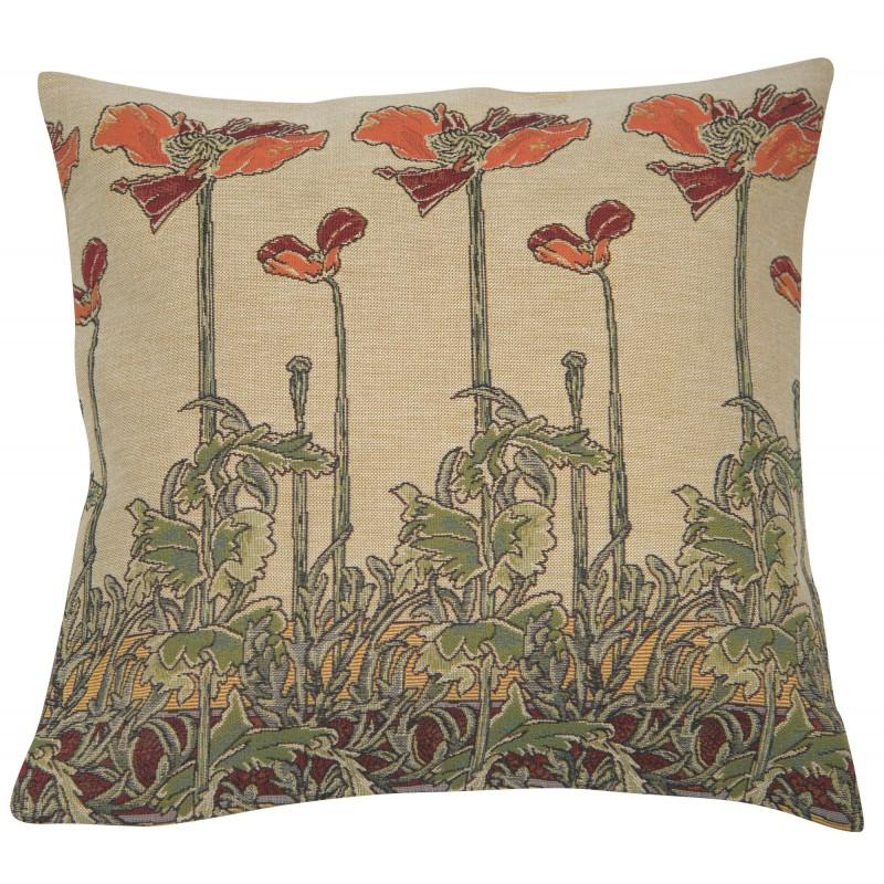 CHAMP ART NOUVEAU FRENCH TAPESTRY CUSHION