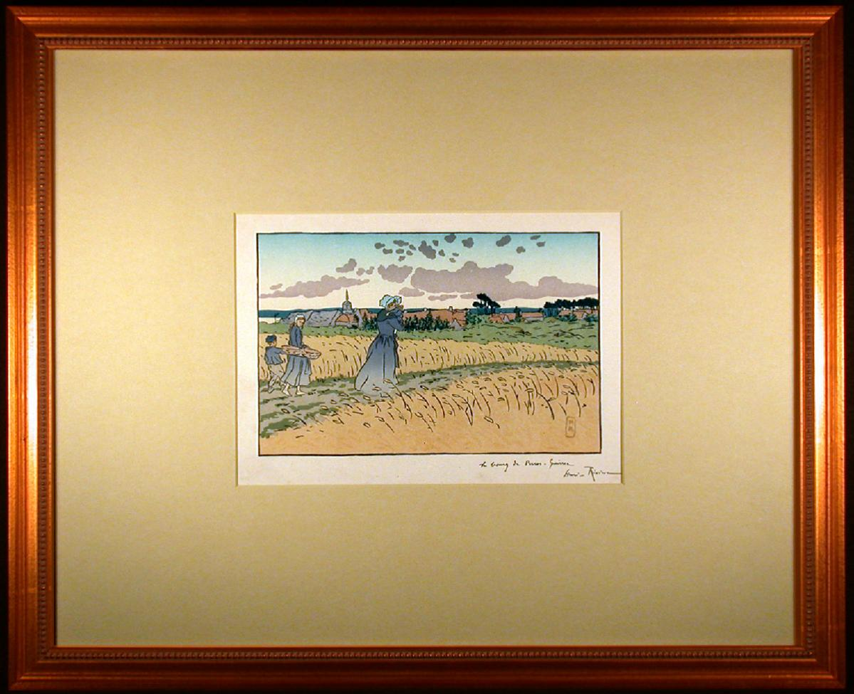 Le Bourg des Perros- Guirree Color Lithograph from